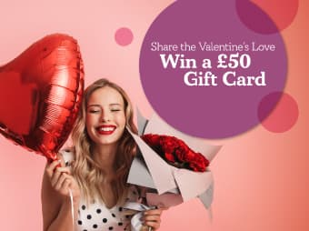 Win a £50 Gift Card Graphic